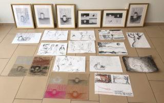 Ergebnisse des Kunst-Workshops Entdecke deine grafische Technik, LERNERiA